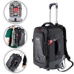 Neewer 2-in-1 Rolling Camera Backpack Trolley Case - Anti-Sh
