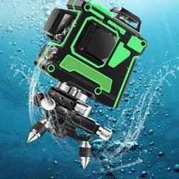 12 Line Laser Level Green Self Leveling 3D 360° Rotary Cros