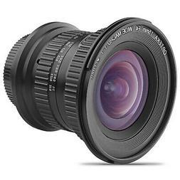 Opteka 15mm f/4 1:1 Macro Wide Angle Lens for Nikon F DX FX