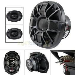 """2 Orion 6"""" x 9"""" Three Way Coaxial Speakers 600 Watts Max 4 O"""