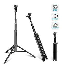 Neewer 2-in-1 Extendable Selfie Stick Monopod and Tripod Sta