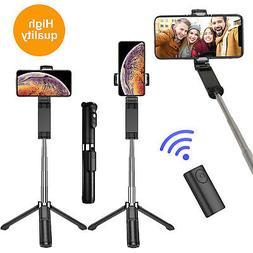 3 in 1 Wireless Bluetooth Selfie Stick Tripod Extendable Rem