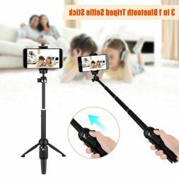 3in1 Handheld Extendable Tripod Monopod Selfie Stick w/ Remo