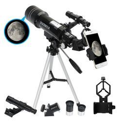 40070 Telescope with Tripod Phone Adapter 16X/66X Moon Watch