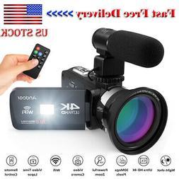 Andoer 4K Ultra HD WiFi Digital Video Camera Camcorder DV Re