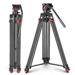 Neewer 77 inches Aluminum Alloy Video Tripod with 360 Degree