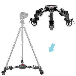 Neewer 15.7inches  Adjustable Tripod Dolly with Rubber Wheel