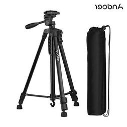 Andoer Lightweight Photography Tripod Stand Aluminum Alloy 3