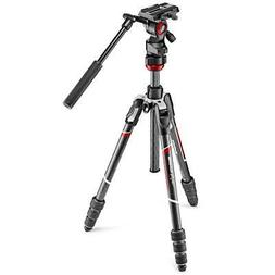 Manfrotto Befree Live Carbon Fiber Video Tripod Kit with Flu