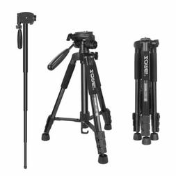 ZOMEI Camera Tripod Monopod 55''Compact Light Weight Travel