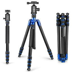 Neewer Carbon Fiber 65 inches Tripod Monopod with 360 Degree