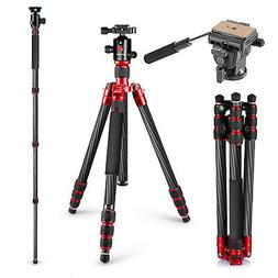 Neewer Carbon Fiber Tripod Monopod 63 inches/160 centimeters
