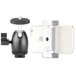 Neewer Cellphone Holder with Ball Head Adapter for Ring Ligh