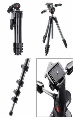 Manfrotto Compact Advanced Aluminum 5-Section Tripod Kit wit