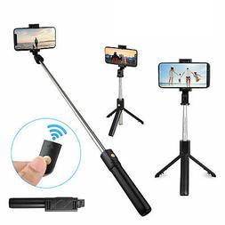 Extendable Handheld Desk Selfie Stick w/ Monopod Stand Tripo