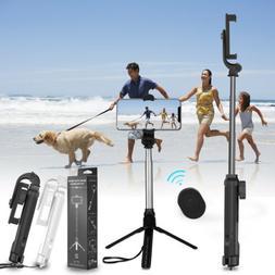 Extendable Selfie Stick Monopod Tripod Bluetooth Remote Shut