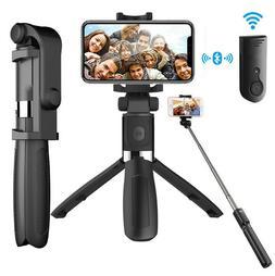 Extendable Selfie Stick Monopod Tripod for Cell Phone + Blue