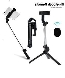 Extendable Wireless Tripod Selfie Stick For iPhone Samsung B