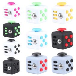 Fidget Toy Cube Stress Anxiety Relief Desk Toy EDC 6 Sided F