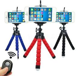 Flexible Smartphone Tripod Bluetooth Remote for Phones Cell