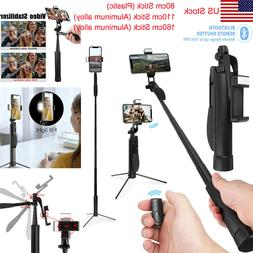 Gimbal Stabilizer Bluetooth Remote Foldable Selfie Stick Tri