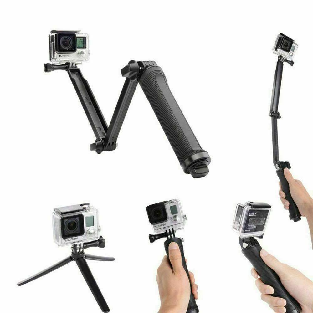 3 Selfie Stick for Hero 7 Black Sports