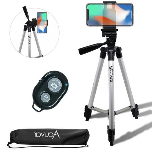 """Acuvar 50"""" inch Smartphone Tripod & Wireless Remote For iPho"""
