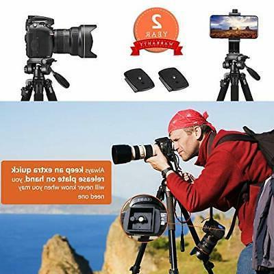 65-inch Aluminum Tripod Camera, Phone