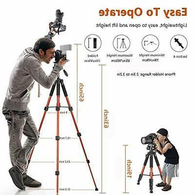 65-inch Camera, Phone Tripod