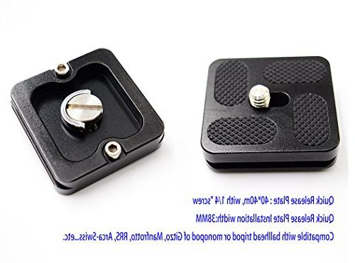 koolehaoda Tripod Ball Head mini Ballhead Quick Plate For Camera Net only 170G,Maximum