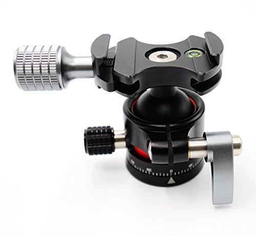 koolehaoda Head mini Ballhead Quick Plate Camera Tripod, Net only 170G,Maximum load: