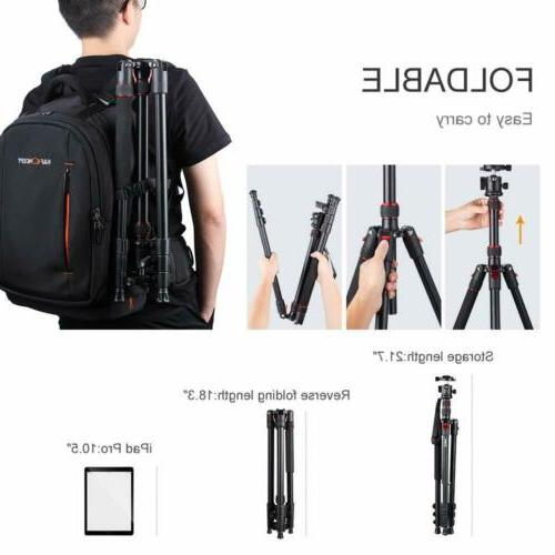 K&F Concept 78 Aluminum with 360 Degree Head for DSLR