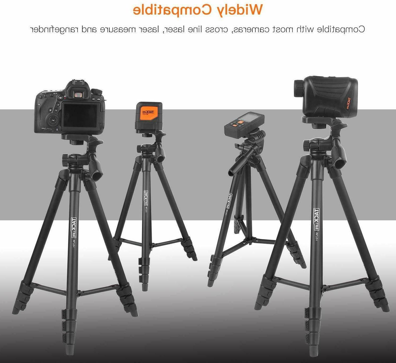 Lightweight Tripod 55-Inch, Aluminum Travel/Camera/Phone Tripod Bag,