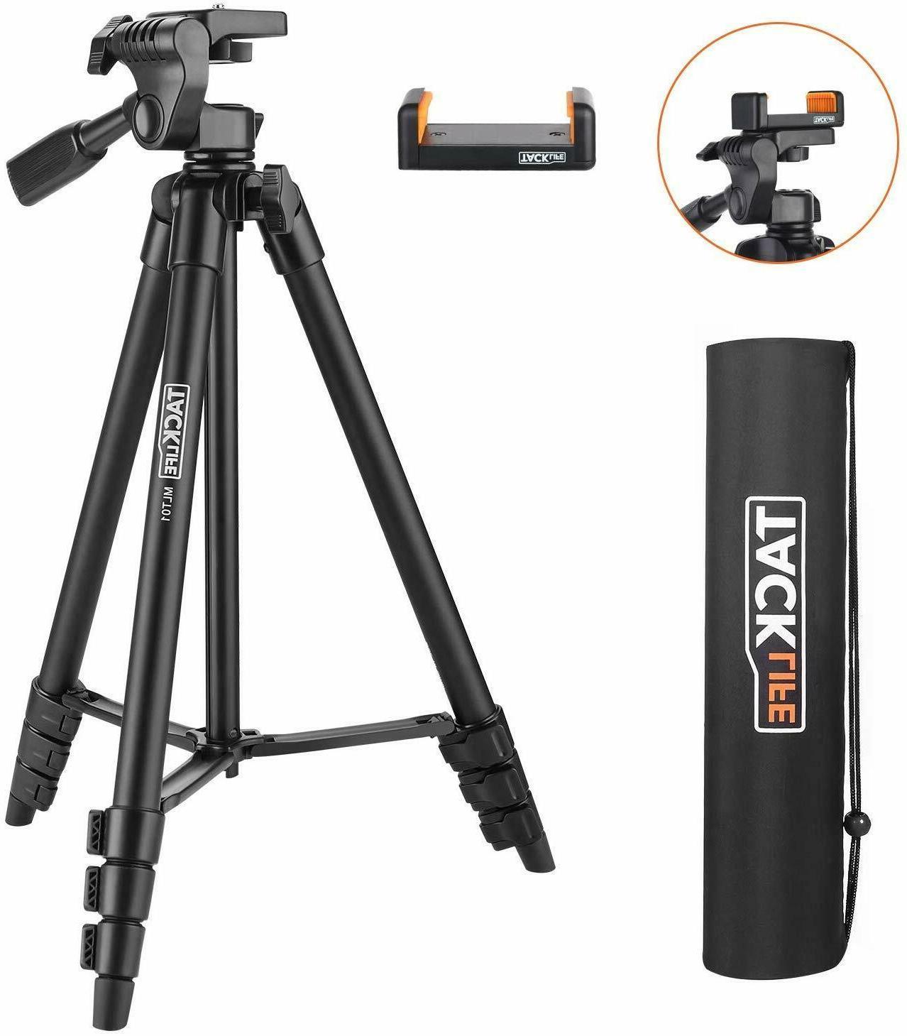 lightweight tripod 55 inch aluminum travel camera