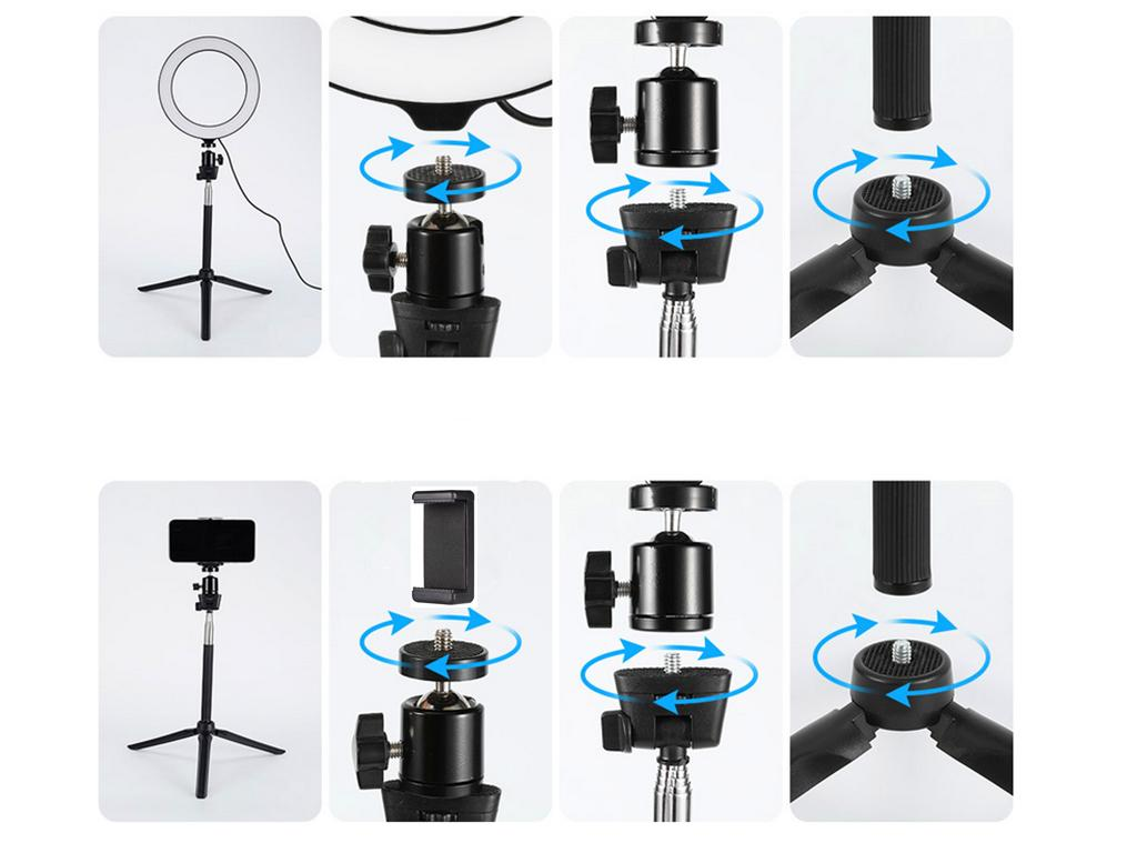 NEW 7in1 LED Light Camera Video Dimmable Tripod KIT