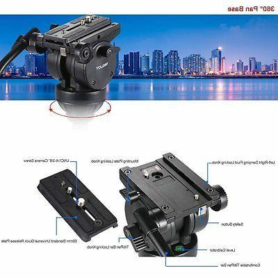 Professional Camera Tripod Fluid Head For