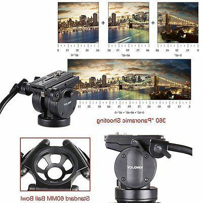 Professional Duty Camera Tripod Stand Fluid Head For