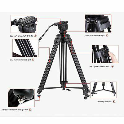 Professional Heavy Duty Camera Tripod Stand Fluid For