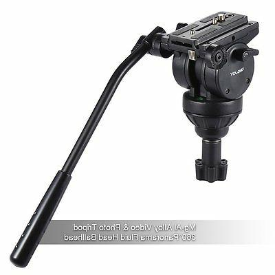 Professional Heavy Camera Tripod Stand with Fluid Head