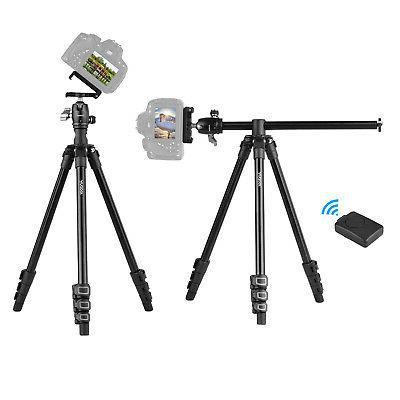 q160h portable camera tripod horizontal mount professional