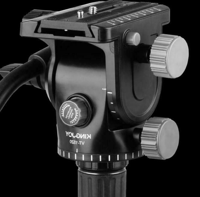 Tripod Action Fluid Head Tripod Slider DSLR Camera