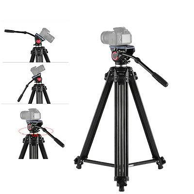 Andoer Tripod for Video Stand Fluid Pan Head Carry