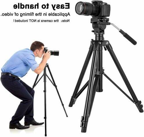 VT555 Professional Video Tripod with 360-degree Fluid Head