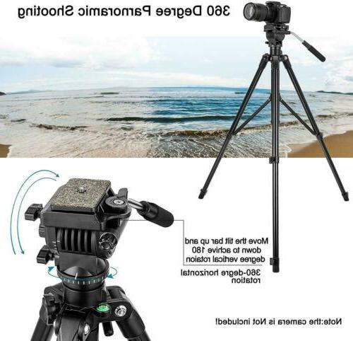 VT555 Camera Video Tripod with Fluid