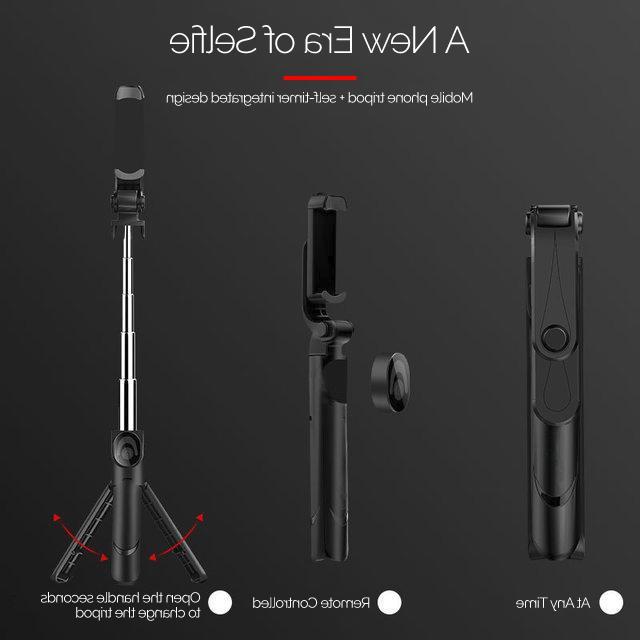 XT-09 Selfie Holder Bluetooth Remote Travel Size Iphone holder