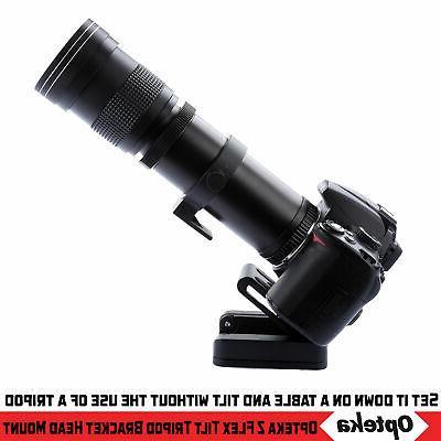 Opteka Head Mount for Canon 90D 80D 7D 5D Mark IV