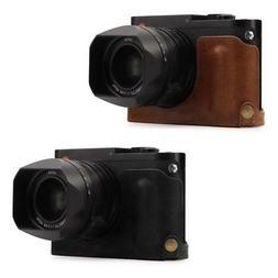 MegaGear Leica Q-P, Q  Genuine Leather Camera Half Case