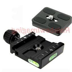 """Metal Clamp Adapter with 1/4"""" Quick Release Plate for Tripod"""