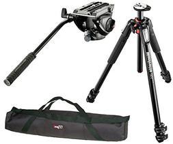 Manfrotto MT055XPRO3 / MVH500AH Professional Video Tripod Ki