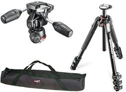 Manfrotto MT190XPRO4 4 Section Aluminum Tripod Kit with MH80
